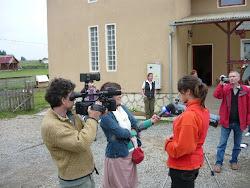 Reporteri ai canalului ProTV...