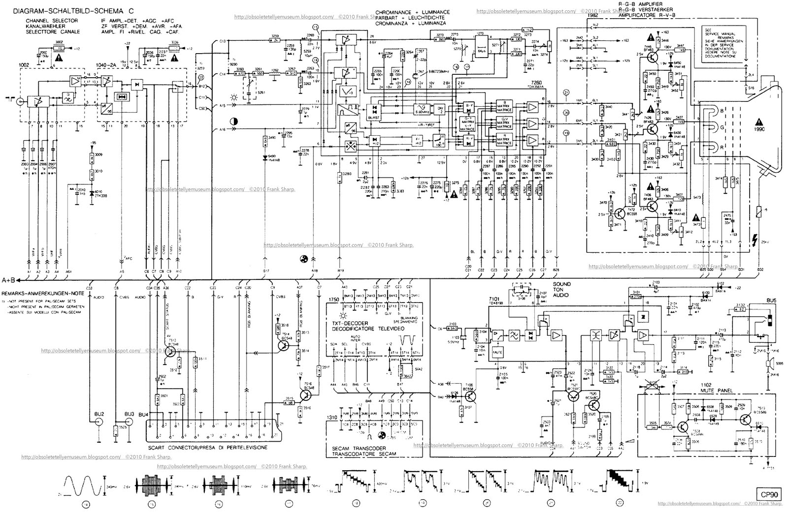 Crt Scope Clock Schematic Google Search Schematics T Monitor Diagram