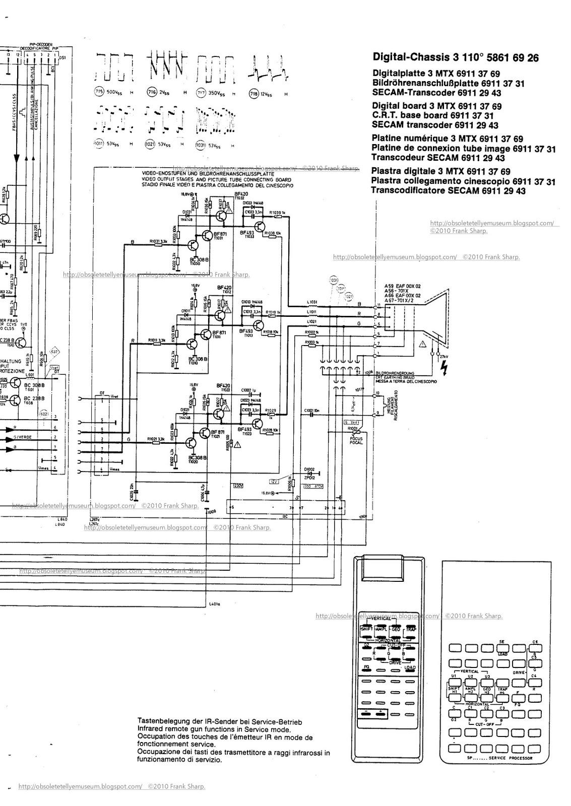 obsolete technology tellye    itt digivision 3486 oscar chassis digi 3 90 u00b0 fst crt tube itt