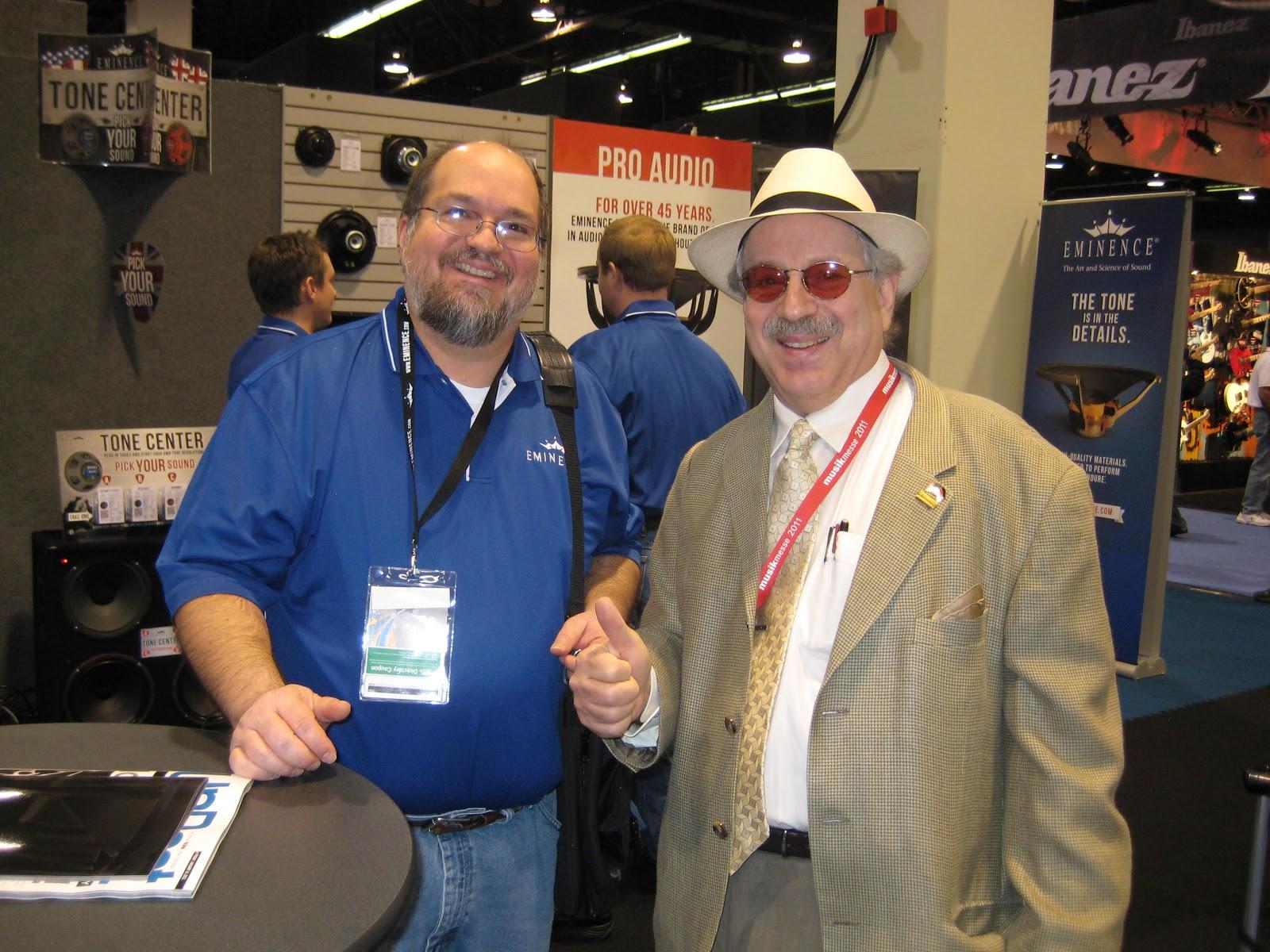Jon hammond and dennis drumm of jhs vintage fret king