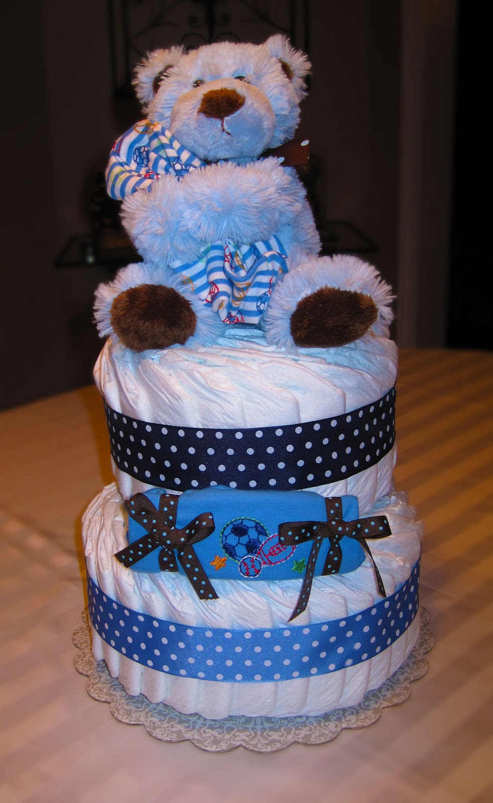 Beary Cute Large 2 Tier SGD Diaper Cake
