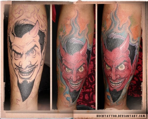 hand tattoes cartoon devil tattoos. Black Bedroom Furniture Sets. Home Design Ideas