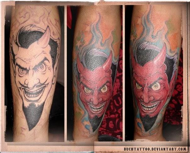 hand tattoes cartoon devil tattoos. Black Bedroom Furniture Sets. Home Design Ideas