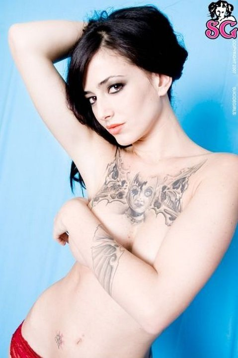 Famous Woman Chest Tattoos