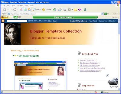 Leonardo Blogger Template