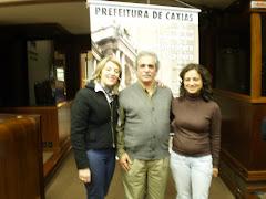 O escritor Uruguaio, Ignácio Martinez e a professora Clarice Freitas e eu