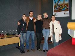 Equipe de Projetos com a Diretora da Biblioteca Pública Municipal, Maria Cristina Pisoni