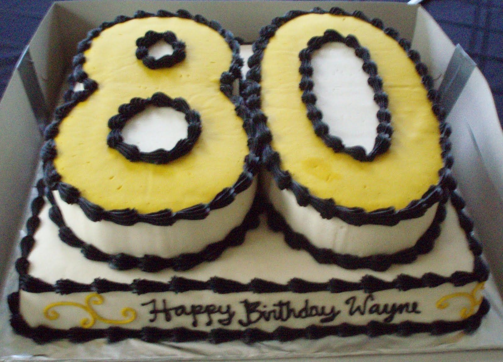 Golden 80th Birthday Samantha S Sweet Treats