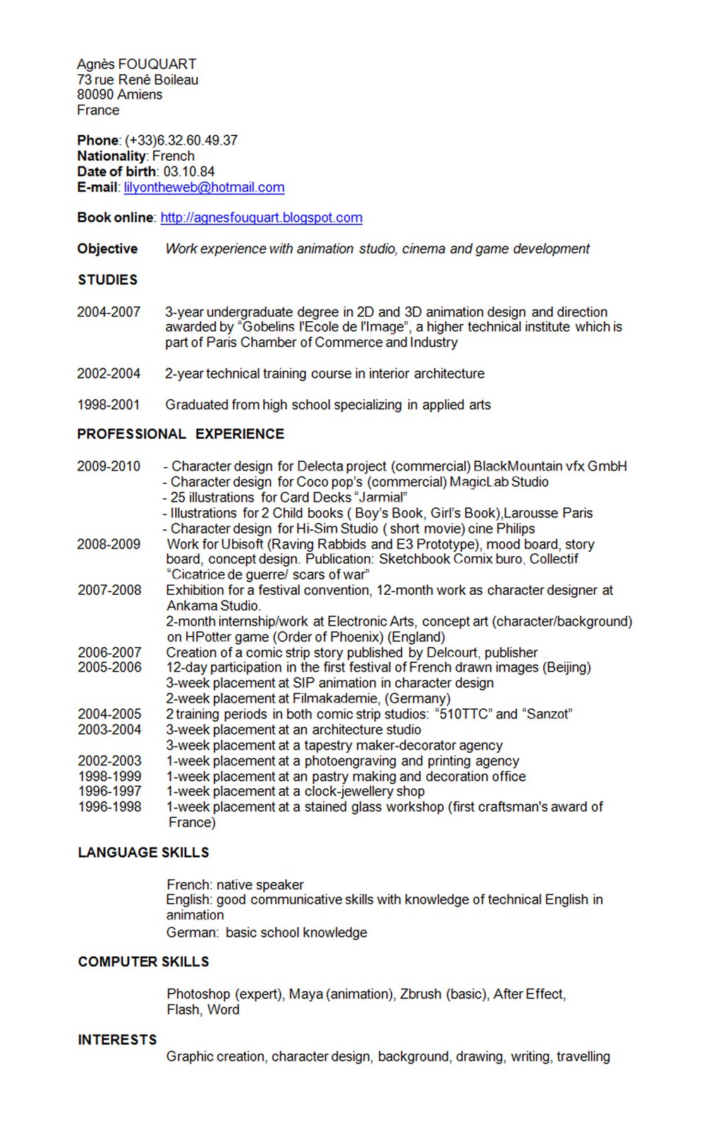 Cv Resume Curriculum Vitae English | newhairstylesformen2014.com