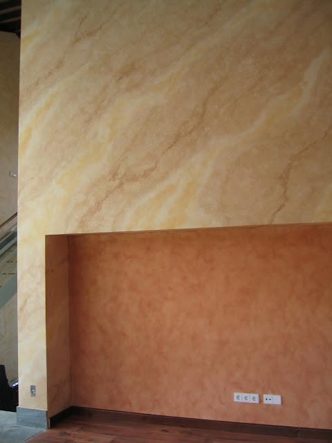 Mimoum blog pintura decorativa para sal n con chimenea for Pintura color marmol