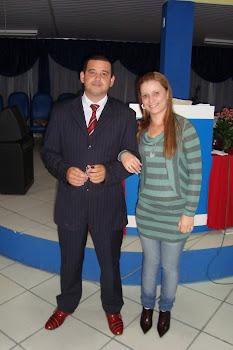 Pastor Fabiano e minha esposa