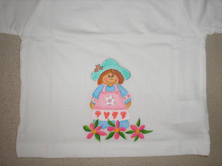 T-shirt menina estilo country
