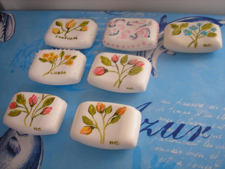 Sabonetes com flores