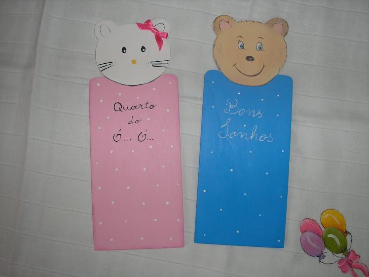 Placas para quarto criança