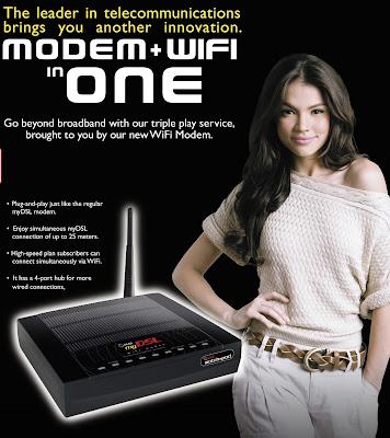 PLDT MyDSL Wifi Modem Poster
