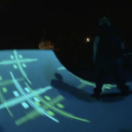 Tron Legacy Skateboarding Light Show 7