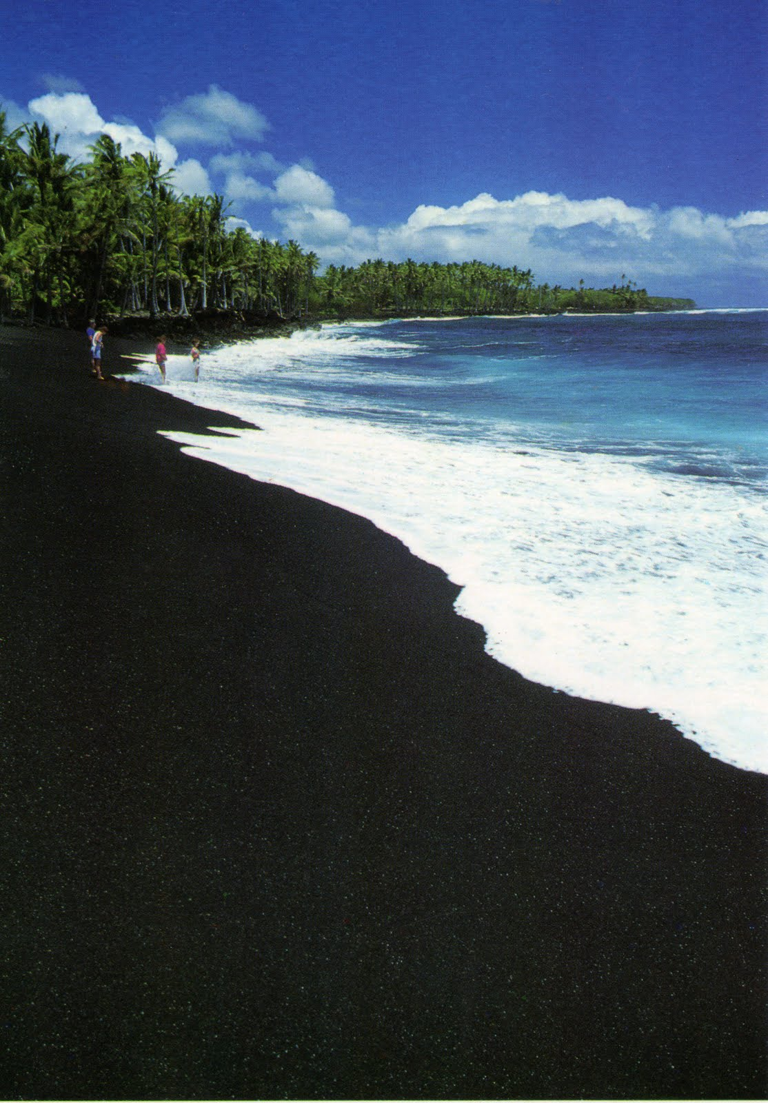 Kakalina manas Black sand beach hawaii