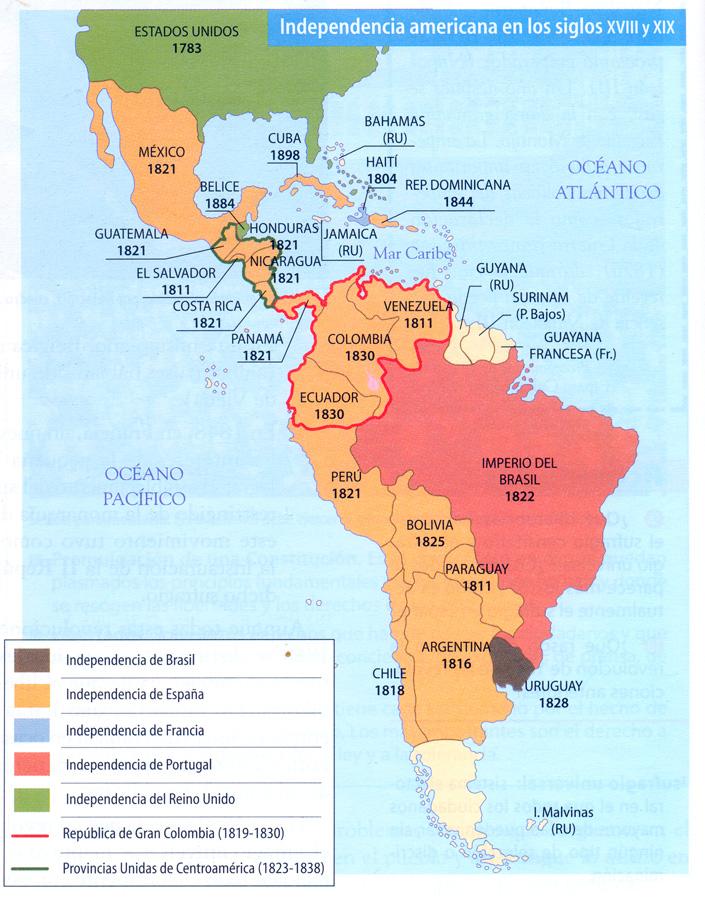 independencia de la america espanola: