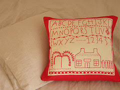 primitive sampler cushion