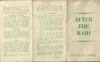 Air raid, Civil defence, public information leaflet, Second World War, World War Two, World War 2, WWII, History, Home Front