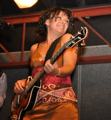 Carol Young of The Greencards performs at the Bluegrass Festival
