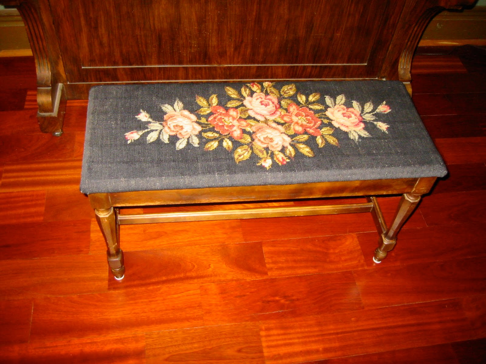 A Goat Walks Into A Bar New Antique Piano Bench