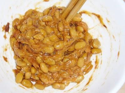 納豆にまぐろフレーク味付缶詰
