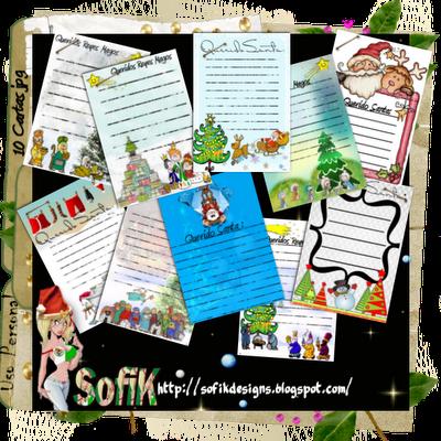 cartas para santa claus, cartas para los reyes magos, para imprimir, navidad