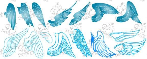 coleccion de vector alas gratis