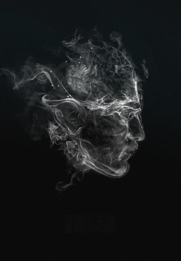 hermosos trabajos digitales con efectos humo
