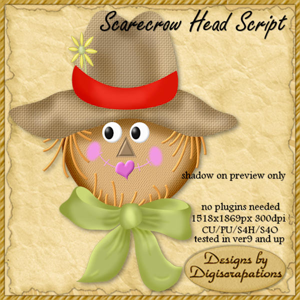 paper plate scarecrow