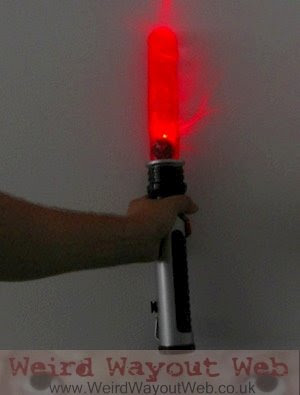 IMAGE: Laser Sword Dildo switched on
