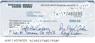 Western Union Money Order Fraud