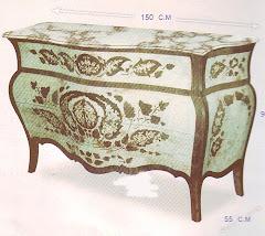 (4)بايوه ورق الشجر 4 درج من الخشب الزان والسويد والقشره صناعه يدويه