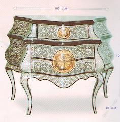 (28)بايوه 3 درج صدف حر ياباني من الخشب الزان والسويد صناعه يدويه بالزجاج كامل التشطيب