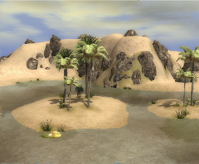 The Oasis of Azullain in the Shalihir Desert