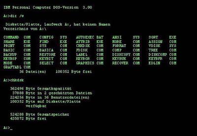 IBM Dos 3.0