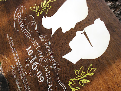 Silhouette Wedding Sign via Chocolate Butterbean