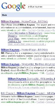 google search milton keynes