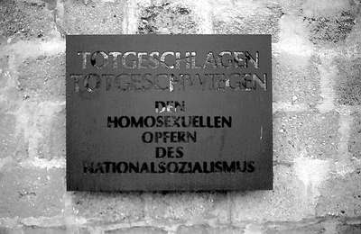 gay memorial at sachsenhausen