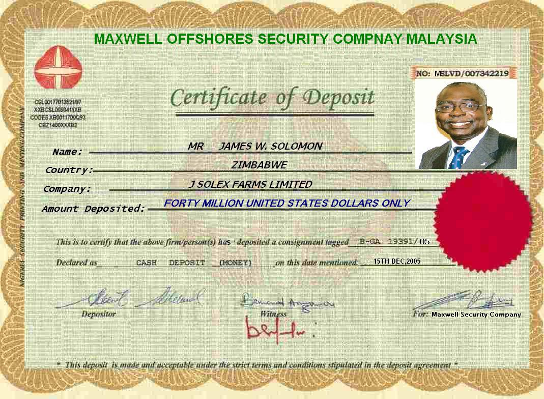 Certificate of deposit cd 1betcityfo Gallery