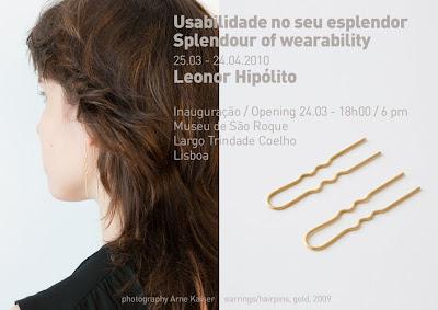 EXPO 'Splendour of wearability - Leonor Hipolito'- Museu Sao Roque, Lisbonne (PT) - 25 mars-24 avril 2010  dans Exposition/Exhibition clip-SofW