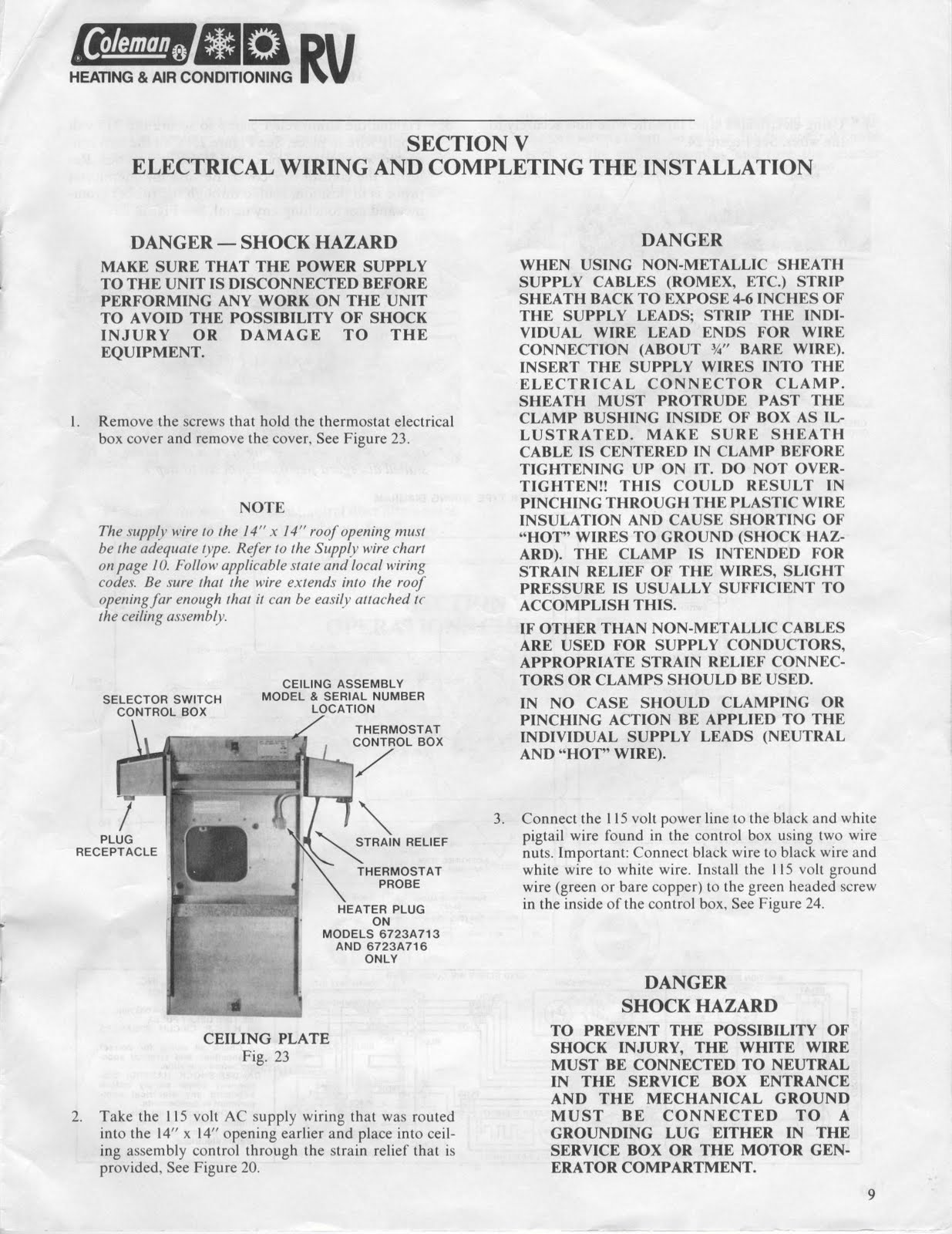 1983 Fleetwood Pace Arrow Owners Manuals Rv Air Conditioners Colemen 7 Wire Thermostat Wiring Diagram Posted By Vintage Travel Trailers At 733 Am