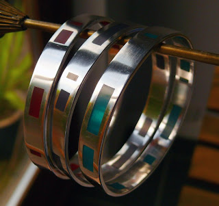 Jane Gallagher: Resin window bangles