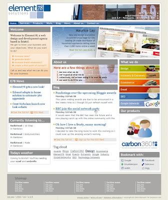 New internal website concept