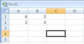 Menghitung Determinan Matriks menggunakan Excel
