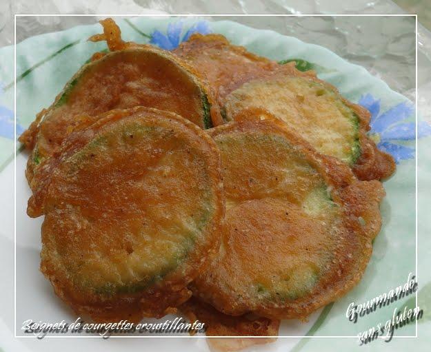 Beignets de courgettes croustillantes, sans gluten