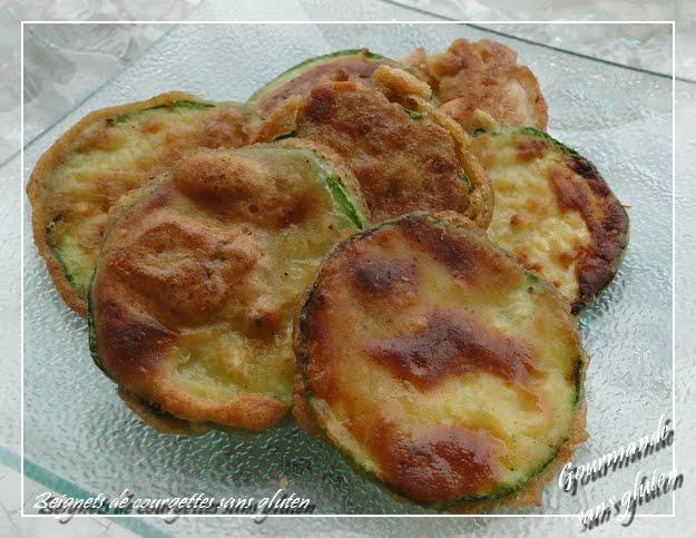 Beignets de courgettes sans gluten