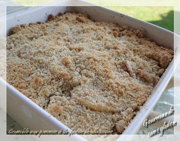 Crumble aux pommes à la farine de châtaigne