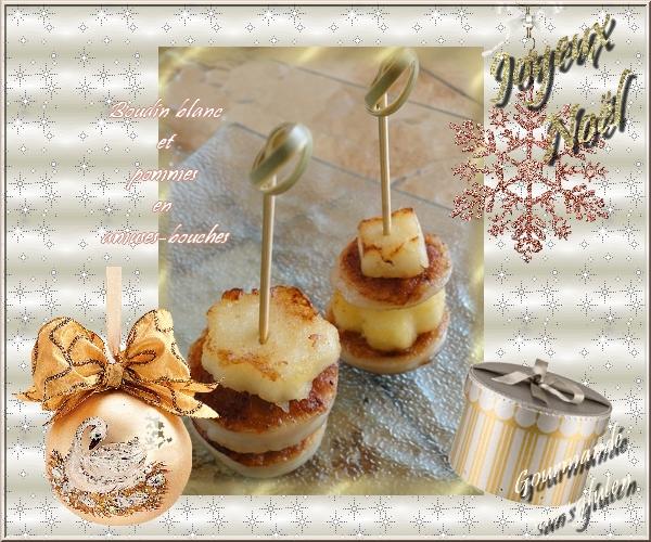 Boudin blanc et pommes en amuses bouches